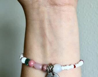 Libra Elastic Beaded Bracelet WOMENS Beaded Zodiac Bracelet