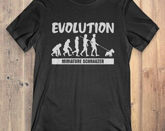 Miniature Schnauzer Custom Dog T-Shirt Gift: Miniature Schnauzer Evolution