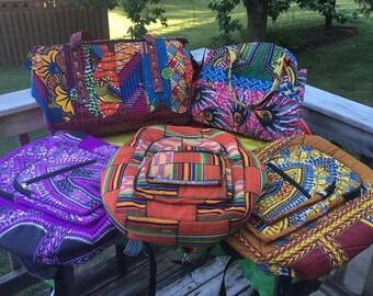 West African Kente/Ankara Backpacks