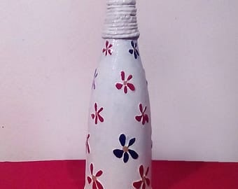 Decorative glass bottle