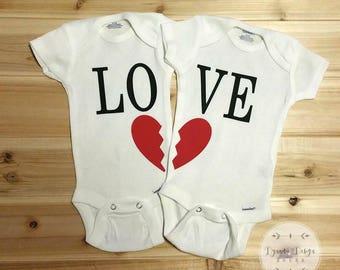 Twin Onesies, Cute Onesies, Best Friends, Love Onesies, Twin Onesie Set, Matching Onesies, Onesie Twins, Sibling Onesies, Twin Baby Onesies