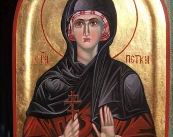 Sv.Petka,Orthodox Byzantine icon