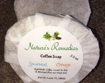 Orange & Spearmint Coffee Soap