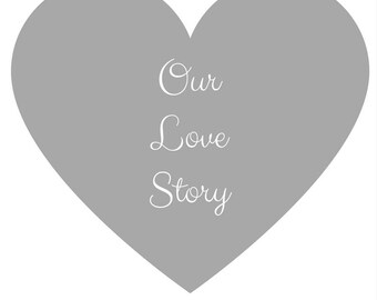 Love Story Print, Grey & white Print, Home Decor, Typography