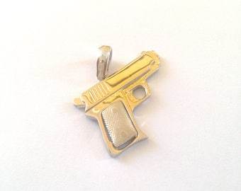 Silver pendant 925, silver pendents, gun, pistols, weapons, gifts, Pendant