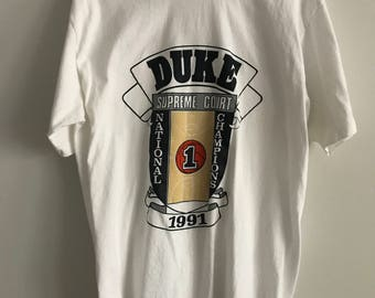 1991 Vintage Duke University National Champions T-Shirt