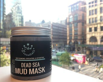 Face Mask, Dead Sea Mud Mask, Acne Mask, Acne Treatment, Acne Scars, Toxin Minimizer- D & A Essentials Dead Sea Mud Mask 8 OZ Bottle