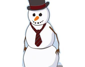 Snowman Life-Size Cardboard Cutout