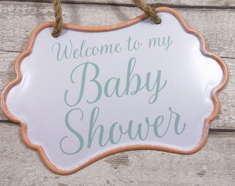 Baby Shower Party Sign Wall Hanging Plaque Decorations Gift Accessories New Baby New Mum Mom Pregnancy Announcement Gender Reveal