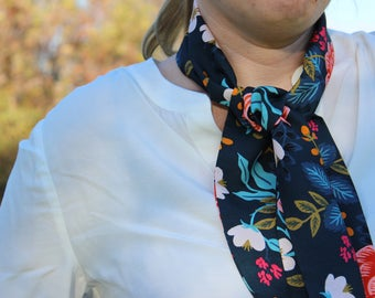 Scarf for women soft rayon fabric, floral print neck scarf mother day gift