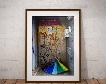 Metal Print - Umbrella from Copenhagen, Photography - Metalic Aluminum Print, Fine Art, Wall Art, Nature Print, Home Decor, Photography