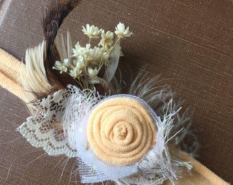 Autumn Newborn Tieback Headband