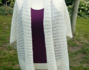 Handknitted cardigan in soft-white colour