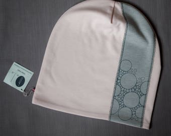 Light pink women's beanie hat Slouchy jersey beanie with cotton lining Autumn/spring hat for women/teen Scull hat for outdoor activity