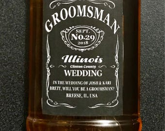 Alcohol Groomsman & Usher Labels