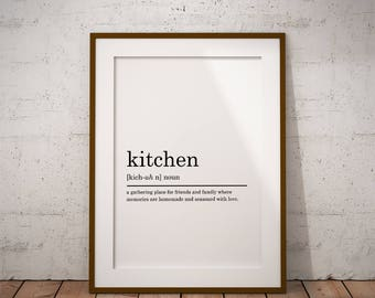 Kitchen Definition Print, Funny Definition Print, Kitchen Print, Kithen poster, Printable Poster, Kitchen decor, DIGITAL DOWNLOAD