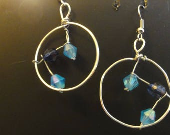 Bicone Beads in a Hoop