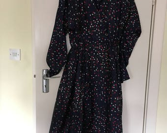 Vintage polyester georgette dress