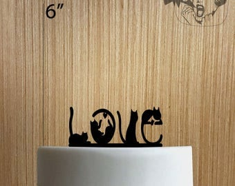 Love Cats 225-104 Cake Topper