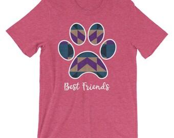 Best Friends Paw Print Dog Lovers T-Shirt