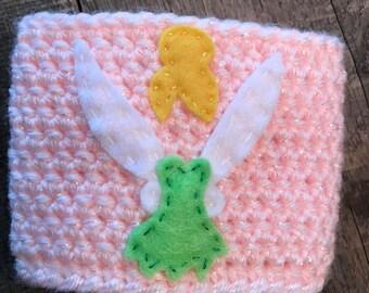 Tinkerbell Coffee Cozy / Reusable Cozy / Crochet Coffee Sleeve