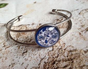 Delft Blue Flower Bracelet