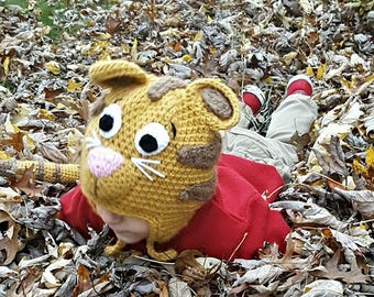 Crochet Daniel Tiger Hat