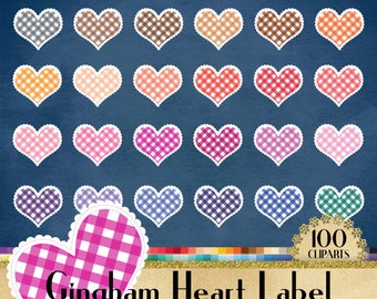 100 Gingham Heart Frame Cliparts,100 PNG Clipart,100 Transparent Clip Arts,Gingham Badge,Gingham Frame,Gingham Label,Heart Frame,scrapbook