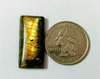 28.30 x 13.25 mm,Octagon  Shape Labradorite Cobochon/Gold Flash/wire wrap stone/Super Shiny/Pendant Cabochon/Semi Precious Gemstone/labrad