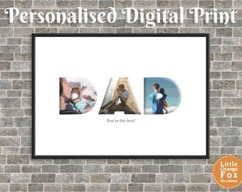DAD Personalised Photo Picture Print | Birthday Gift For Him | DIY (Printable Digital File)