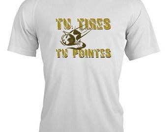 """Theme bowls """"TU reprints or tu POINTES"""" T-shirt"""