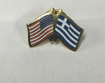 Greece -America Duo Pin