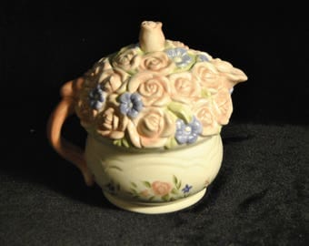 Pfaltzgraff Tea Rose Sculpted Teapot