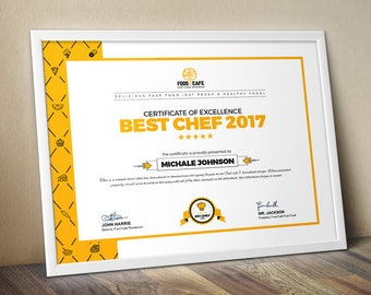 Certificate template etsy modern certificate template multipurpose certificate template psd and eps certificate business award certificate yadclub Gallery