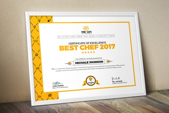 Modern certificate template multipurpose certificate modern certificate template multipurpose certificate template psd and eps certificate business award certificate instant download yadclub Images