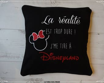 Black Cushion cover the reality is too hard, I'm off to disneyland