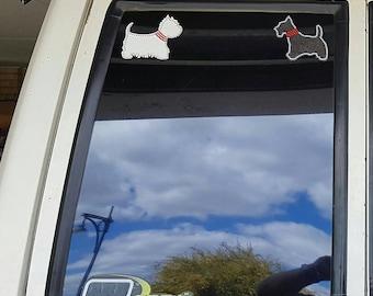 Scottish Terrier, Scottie, West highland White, Westie, Bling,  Car / window Sticker, Decals