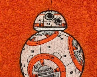 BB8 Personalised Embroidered Towels Name Free