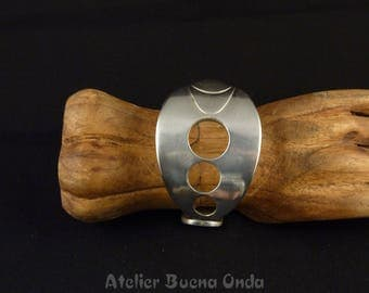 """Spoon with """"Planets"""" bracelet size L/XL in silvered Metal"""