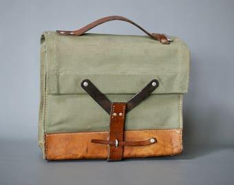 1960s SWISS ARMY Bag, Vintage Swiss Army Ammo Bag, Vintage Swiss Military Ammo Bag, Swiss Ammunition Bag, Swiss Military iPad Bag