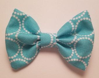Blue Cotten Hair Bow