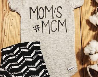 Mom's mcm Onesie, mcmOnesie, #mcm, #mcm Onesie, Man Crush Monday, Baby Boy Onesie, Boy Onesie, Onesie