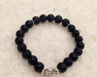 Black Jasper Diffuser Mala Bracelet