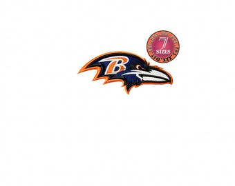 Baltimore Ravens  7 Sizes Sport Team Embroidery Design instatnt download machine embroidery pattern