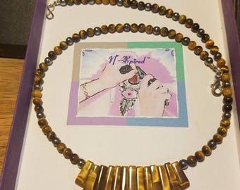 Tiger eye Nspired Necklace Creation