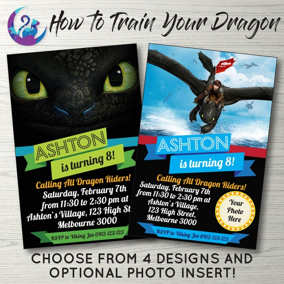 How to train your dragon invitation hiccup and toothless like this item ccuart Choice Image