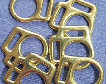 5/8 Inch Brass Plated Halter Squares