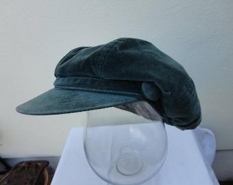 Vintage velour Bakers style hat size 56cm