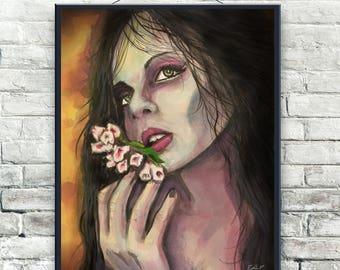 Woman 11x14 Watercolor Digital Download