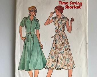 Butterick 6458, a vintage 70s shirtdress pattern